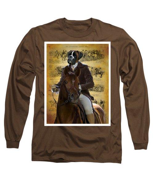 Boxer Art Canvas Print Long Sleeve T-Shirt