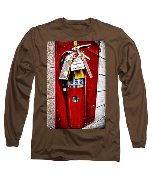Grungy Fire Extinguisher Long Sleeve T-Shirt