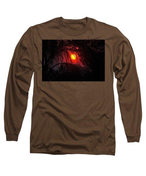 Fire In The Sky Long Sleeve T-Shirt by Jay Milo