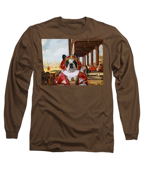 French Bulldog Art Canvas Print Long Sleeve T-Shirt