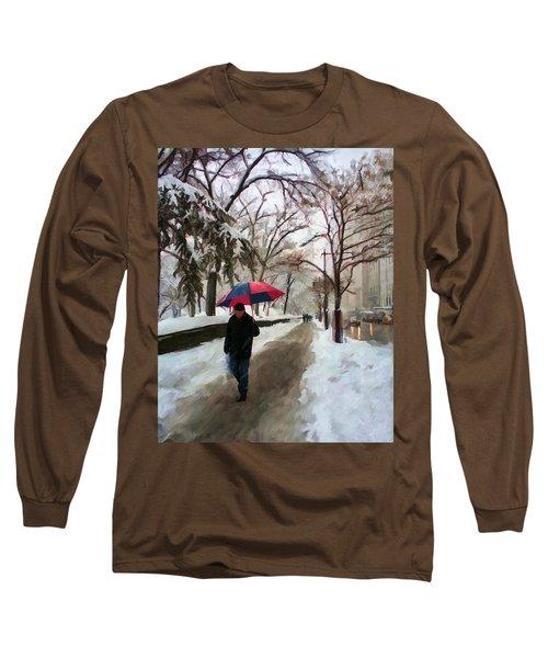 Snowfall In Central Park Long Sleeve T-Shirt