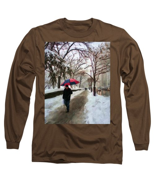 Snowfall In Central Park Long Sleeve T-Shirt