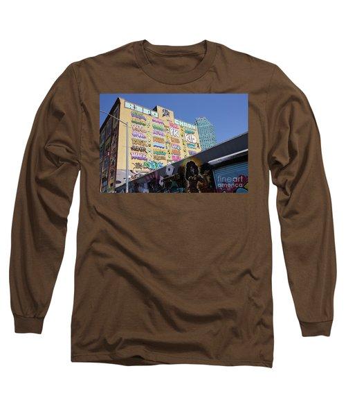 5 Pointz Graffiti Art 2 Long Sleeve T-Shirt by Allen Beatty
