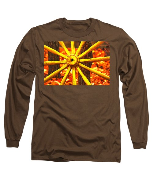 Long Sleeve T-Shirt featuring the photograph Wheels Of Time by Rowana Ray