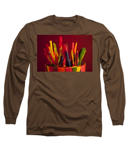 Multi Colored Paint Brushes Long Sleeve T-Shirt