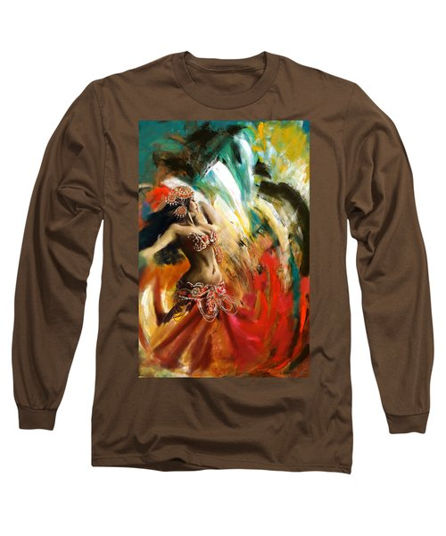 Abstract Belly Dancer 19 Long Sleeve T-Shirt by Corporate Art Task Force