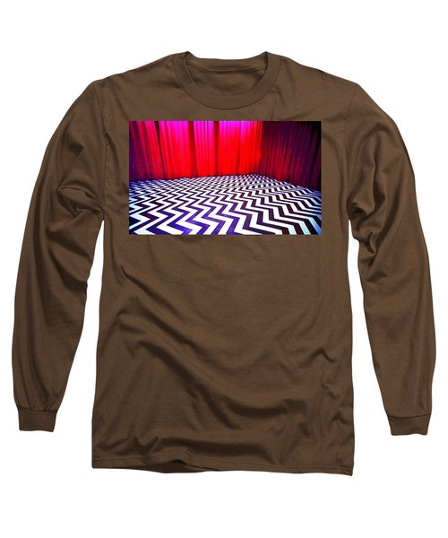 Long Sleeve T-Shirt featuring the painting Black Lodge by Luis Ludzska