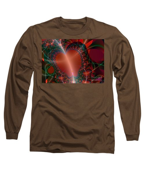 Long Sleeve T-Shirt featuring the digital art A Big Heart by Ester  Rogers