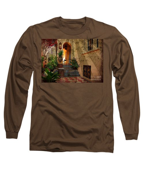Long Sleeve T-Shirt featuring the photograph A Charleston Garden by Kathy Baccari