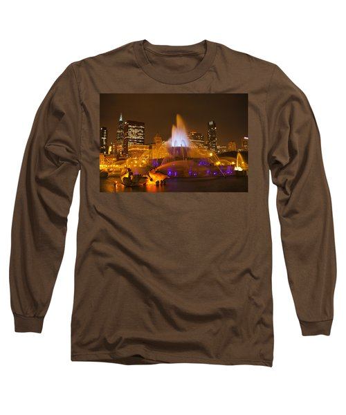 Long Sleeve T-Shirt featuring the photograph A Chicago Twilight by Andrew Soundarajan