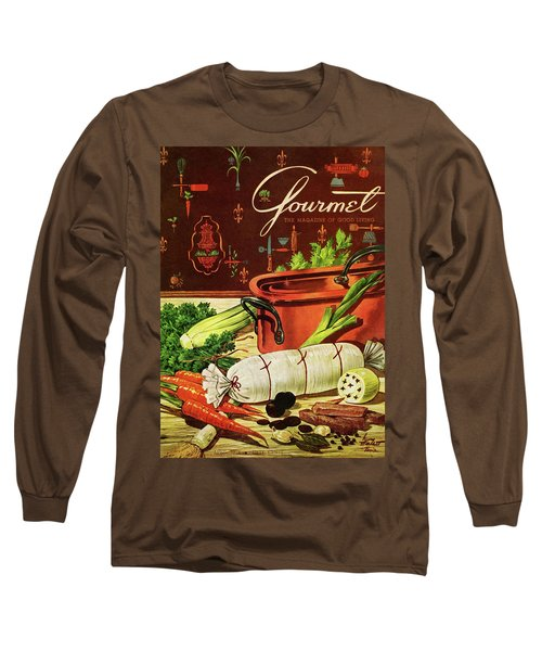 A Copper Pot And Ingredients Of Ballontine De Long Sleeve T-Shirt