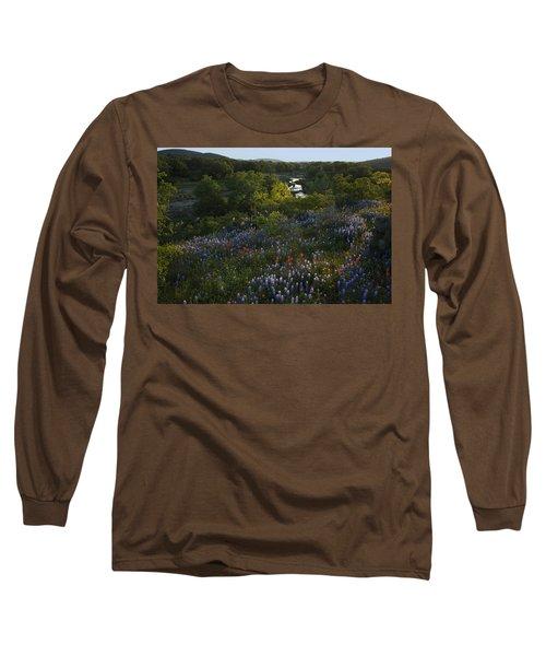A Creek In Llano County  Long Sleeve T-Shirt