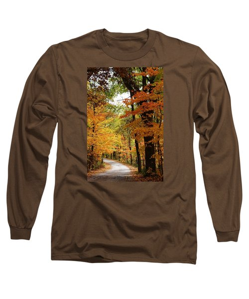 Long Sleeve T-Shirt featuring the photograph A Drive Through The Woods by Bruce Bley