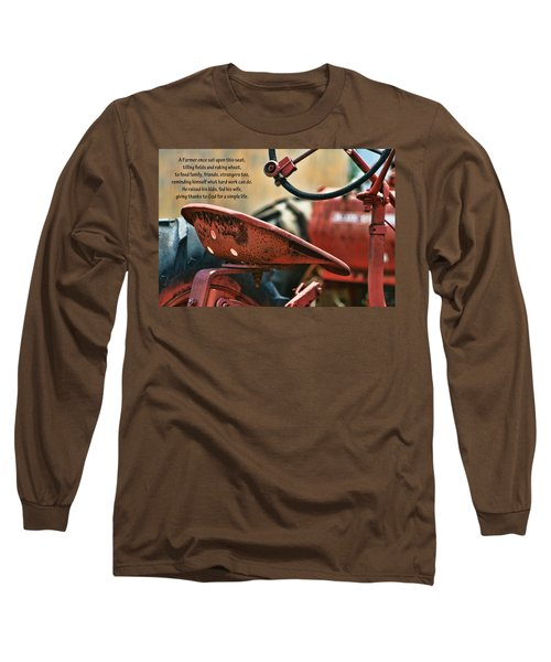 A Farmer And His Tractor Poem Long Sleeve T-Shirt
