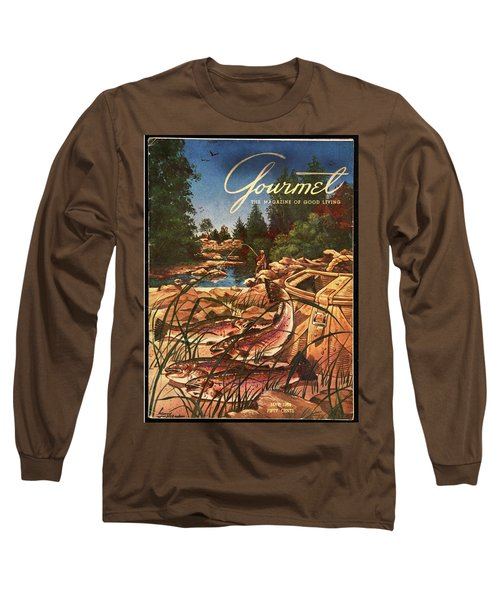 A Fishing Scene Long Sleeve T-Shirt