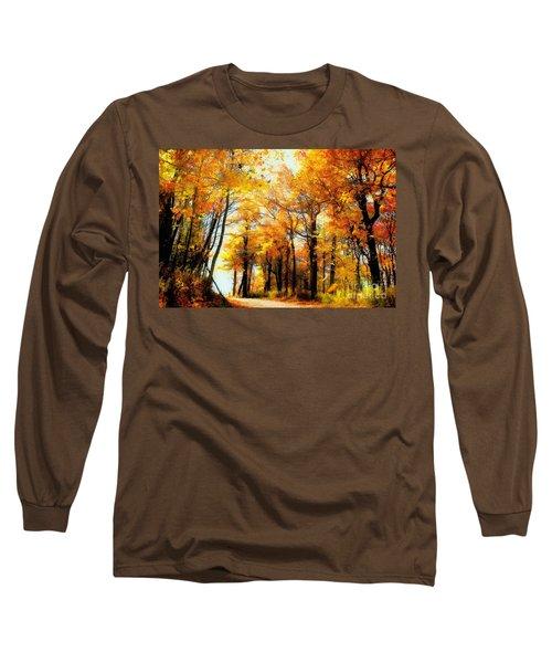 A Golden Day Long Sleeve T-Shirt by Lois Bryan