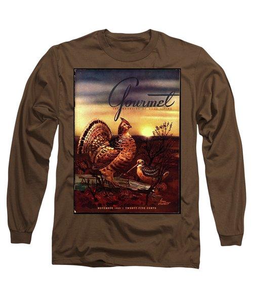 A Gourmet Cover Of A Turkey Long Sleeve T-Shirt