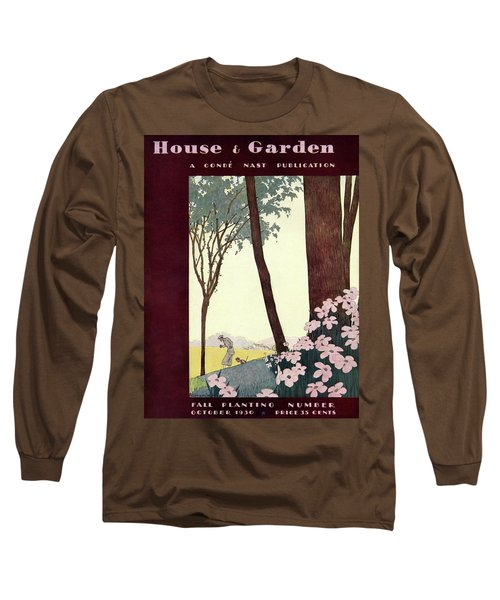 A House And Garden Cover Of A Rural Scene Long Sleeve T-Shirt
