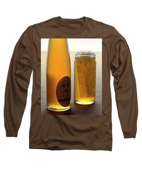 A Jar And Bottle Of Honey Long Sleeve T-Shirt