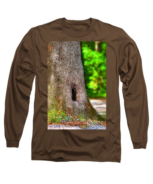 Long Sleeve T-Shirt featuring the photograph A Little Hiding Place by Ester  Rogers