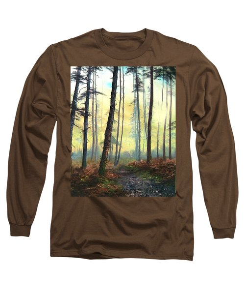 A Lovely Walk On Cannock Chase Long Sleeve T-Shirt by Jean Walker