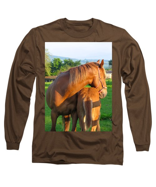A Mother's Love Long Sleeve T-Shirt by Suzanne Oesterling