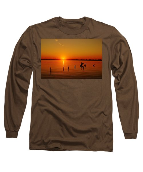 A New Day Dawns... Over Dock Remains Long Sleeve T-Shirt by Daniel Thompson