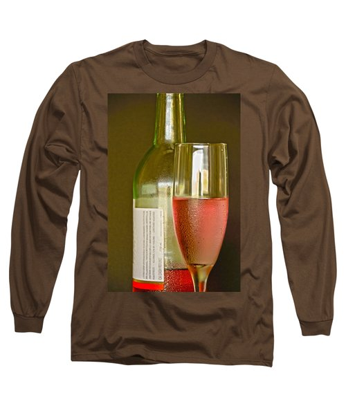 A Nice Glass Of Wine Long Sleeve T-Shirt by Charles Beeler