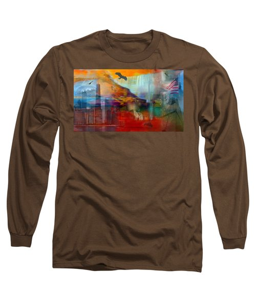 A Piece Of America Long Sleeve T-Shirt by Randi Grace Nilsberg