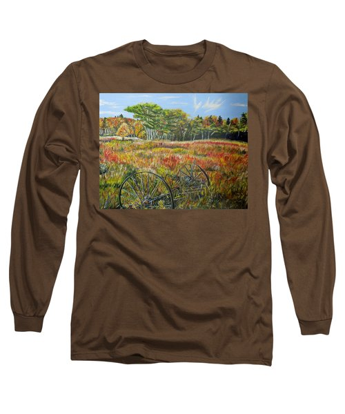 Long Sleeve T-Shirt featuring the painting A Prairie Treasure by Marilyn  McNish