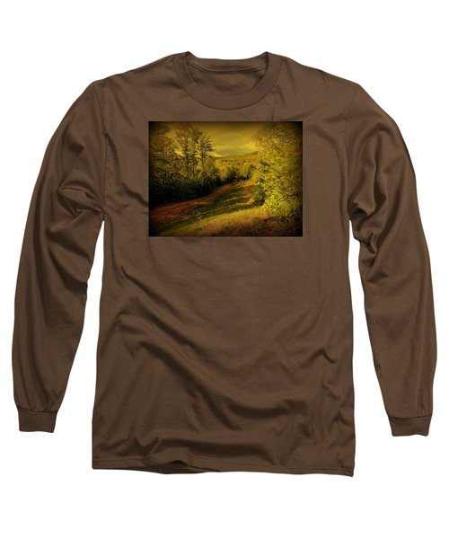 A Road Less Traveled Long Sleeve T-Shirt by Mim White