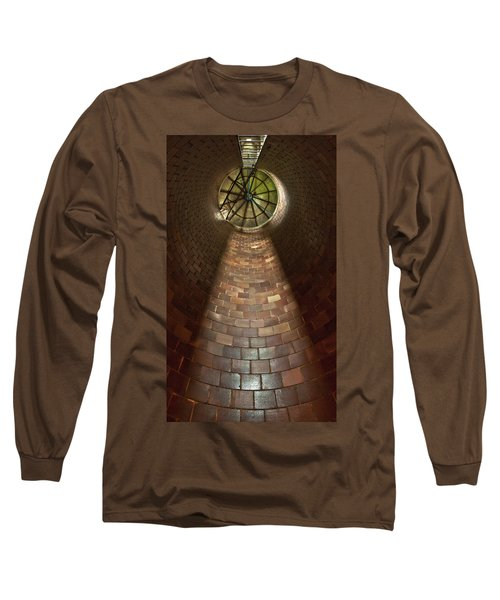 Long Sleeve T-Shirt featuring the photograph A Silo Of Light From Above by Jerry Cowart