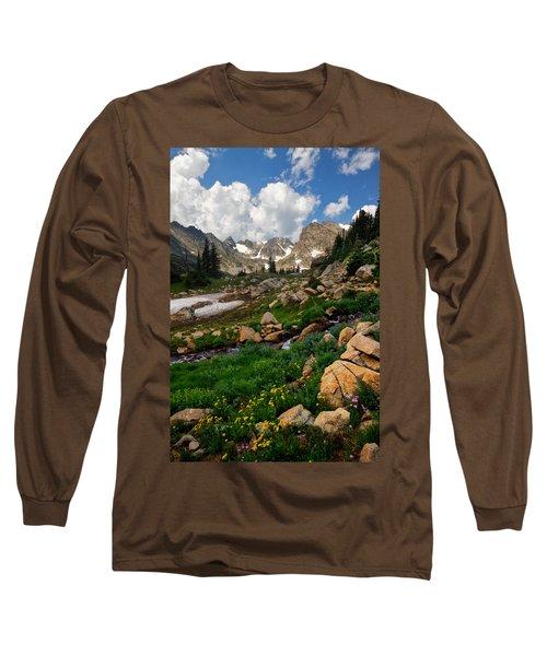 Long Sleeve T-Shirt featuring the photograph A Stream Runs Through It by Ronda Kimbrow
