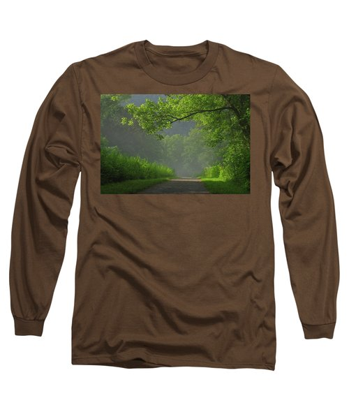 A Touch Of Green Long Sleeve T-Shirt by Douglas Stucky