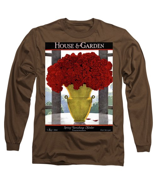 A Vase With Red Roses Long Sleeve T-Shirt