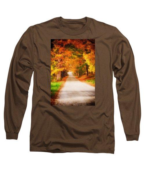A Walk Along The Golden Path Long Sleeve T-Shirt by Jeff Folger
