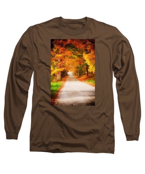 A Walk Along The Golden Path Long Sleeve T-Shirt