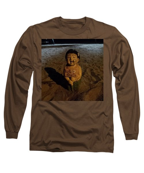Long Sleeve T-Shirt featuring the photograph A Welcoming Friend On My Night Stroll by Mr Photojimsf