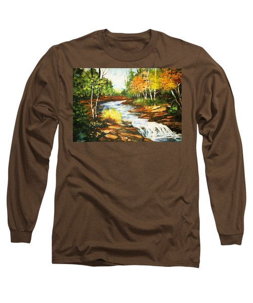 A Winding Creek In Autumn Long Sleeve T-Shirt