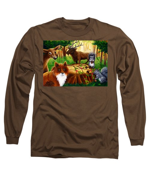A Woodland Thanksgiving Long Sleeve T-Shirt