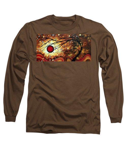 Abstract Art Original Circle Painting Flaming Desire By Madart Long Sleeve T-Shirt
