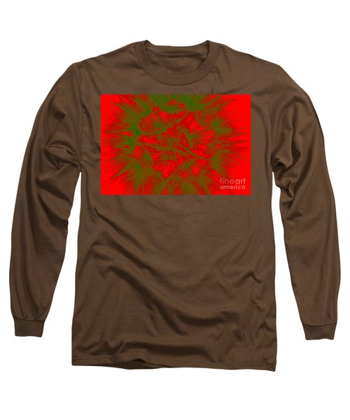 Long Sleeve T-Shirt featuring the photograph Abstract Dandelion Bloom by Mae Wertz
