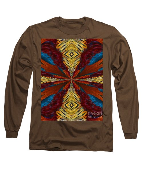 Abstract Feathers Long Sleeve T-Shirt by Smilin Eyes  Treasures