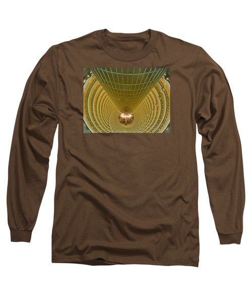 Abstract In Gold Long Sleeve T-Shirt by Alan Socolik