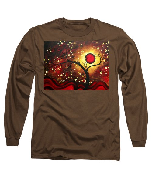 Abstract Landscape Glowing Orb By Madart Long Sleeve T-Shirt