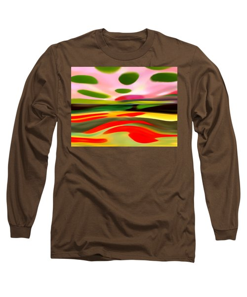 Abstract Landscape Of Happiness Long Sleeve T-Shirt