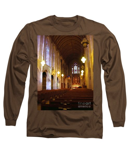 Abstract - Egner Memorial Chapel Interior Long Sleeve T-Shirt