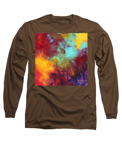 Abstract Original Painting Colorful Vivid Art Colors Of Glory II By Megan Duncanson Long Sleeve T-Shirt