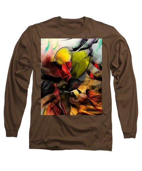 Abstraction 122614 Long Sleeve T-Shirt by David Lane