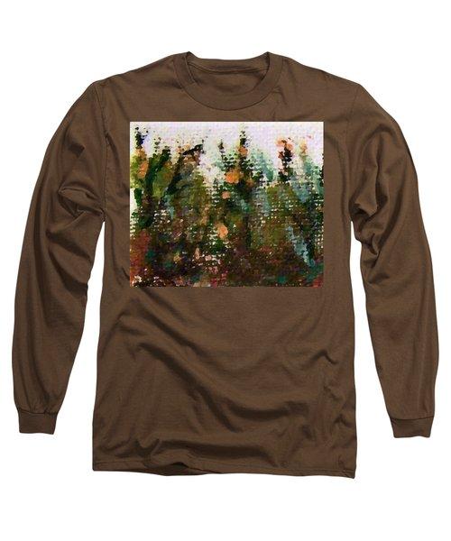 Abstrakt In Grun Long Sleeve T-Shirt
